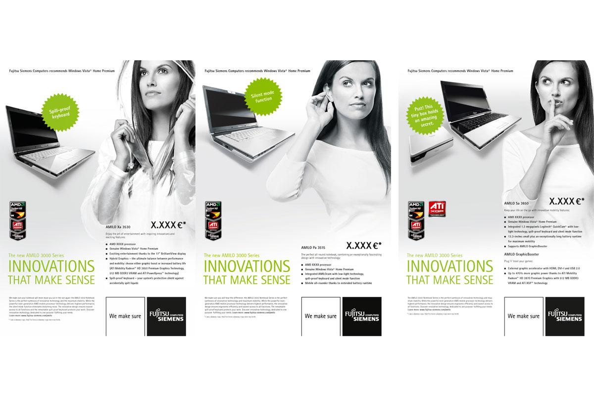 Anzeigenkampagne Werbefotografie Fujitsu Siemens Computers |Felix Krammer Fotografie