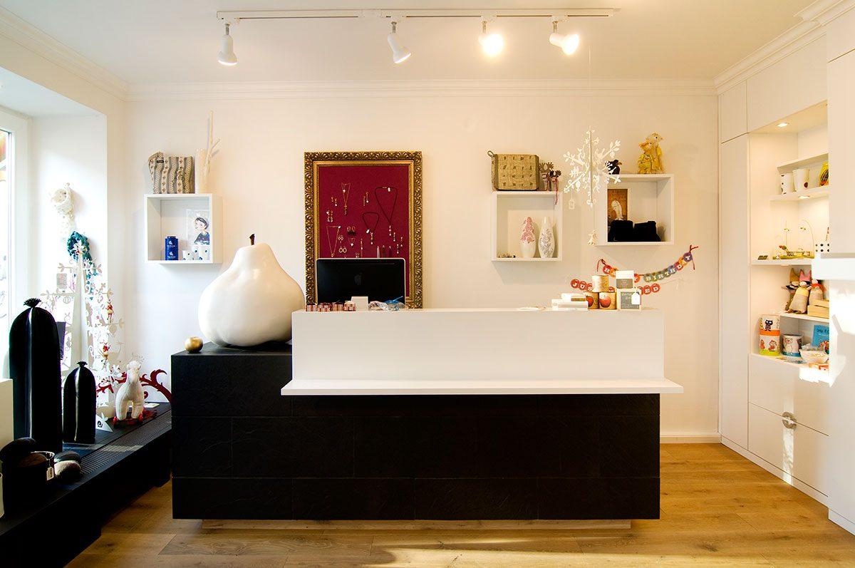 Interieur-Fotoaufnahme des Verkaufsraums von Milchmädchen Design. |Felix Krammer Fotografie