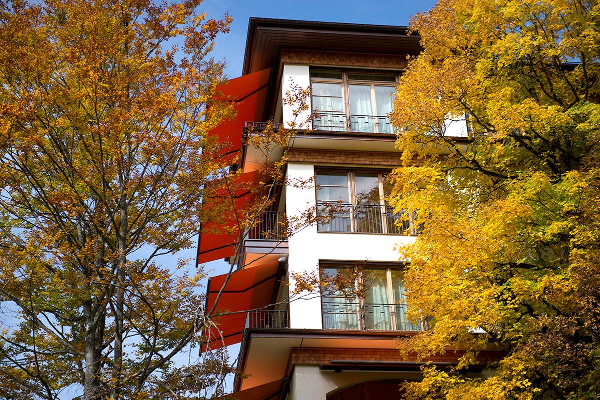Hotel Fotografie von Schloss Elmau Retreat im Herbst |Felix Krammer Fotografie