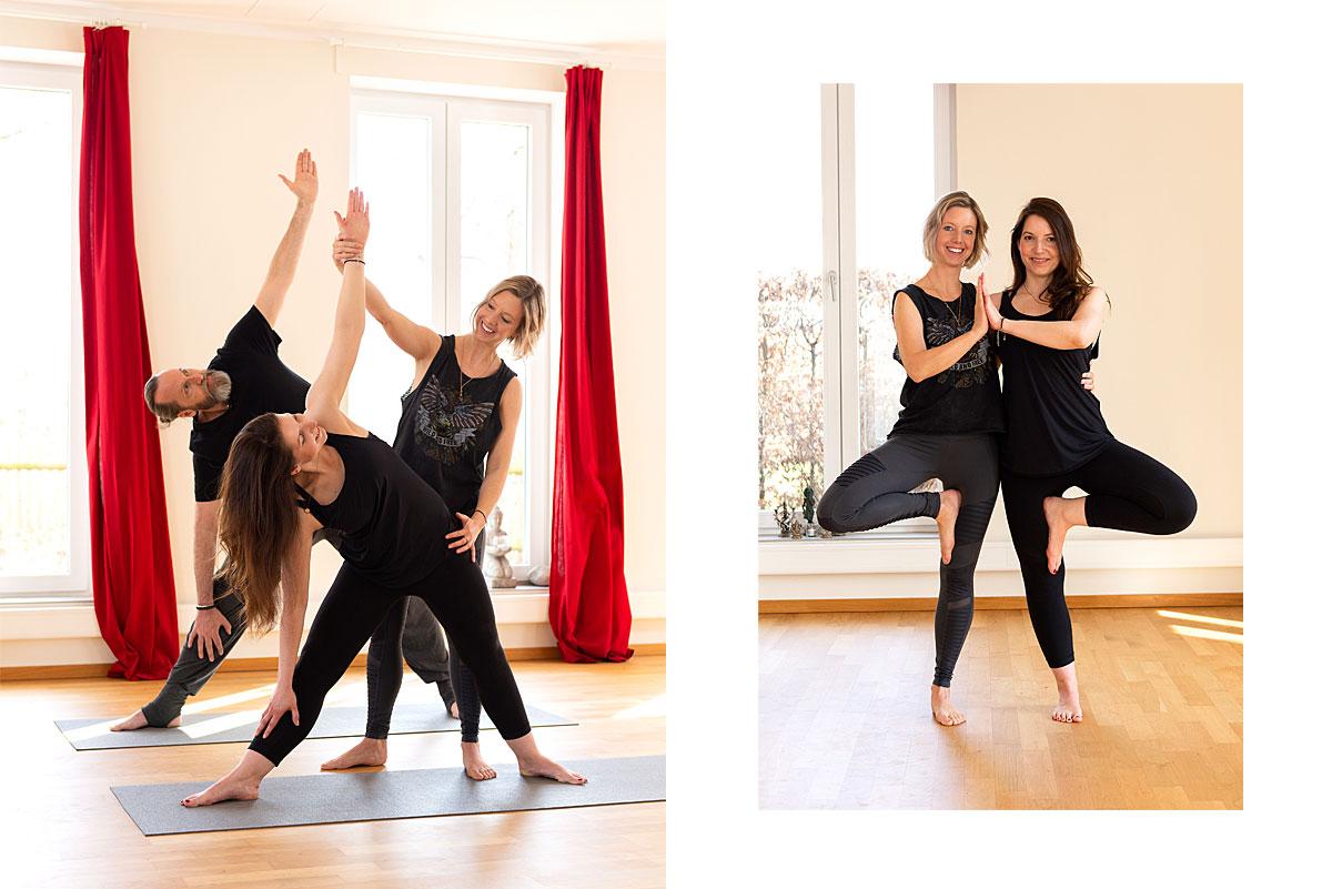 Yogafotografie für Hey Dear Mind – Yogalehrerin Melanie Hoffmann gibt einen Yogaassist. |Felix Krammer Fotografie