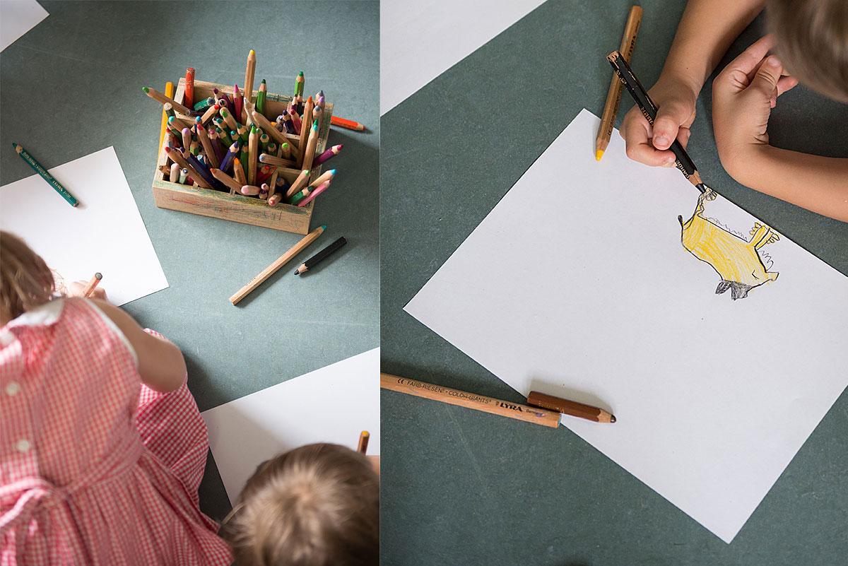 Kindergartenfotografie, Kinder beim Malen  Felix Krammer Fotografie