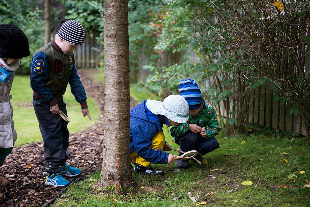 Kindergartenkinder erforschen die Natur - Kindergartenfotograf München |Felix Krammer Fotografie
