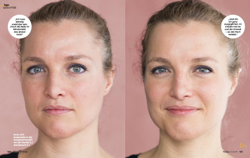 Vorher und nachher Yogafotografie |Felix Krammer Fotografie